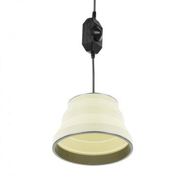 Hängelampe LED faltbar Silikon weiß Ø15cm