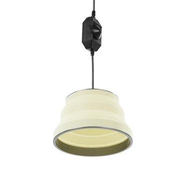 Hängelampe LED faltbar Silikon weiß Ø25cm