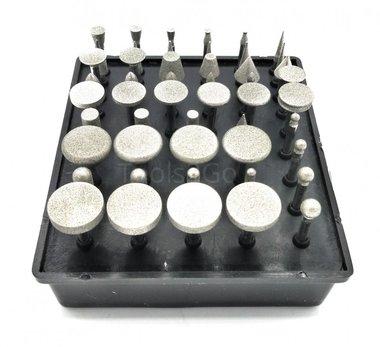 Diamant-Schleifwerkzeug-Set, 50 Stück 3 mm Schaft