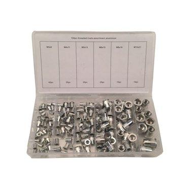 Sortiment Aluminium Nietmuttern 150 teilig