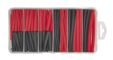 Wärmeschrumpfung schwarz / rot
