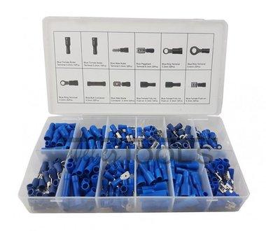 Kabelstecker blau 280-teilig