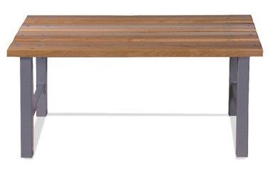 Metallbank mit Buchenholzsitz