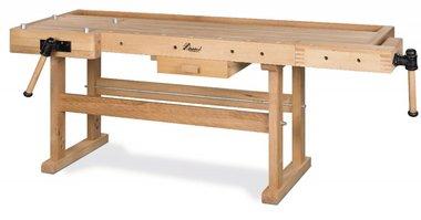 Schwere Holzwerkbank - 2100x700 mm
