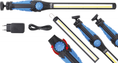 COB-LED / UV-Arbeits-Handleuchte ultra flach