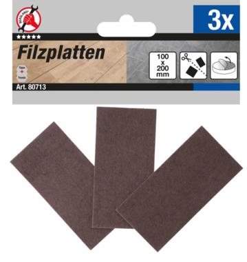 Filzgleiter Platten braun 100 x 200 mm 3-tlg