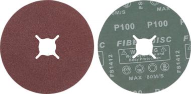 Fiber-Schleifscheiben-Satz | Körnung 100 | Aluminiumoxid | 10-tlg.