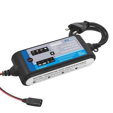 Batterieladegerät 6V/12V 2-4Amp. 9-stufiger Ladezyklus LiFePO4