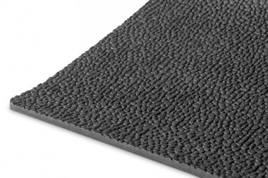 Gummi auf Rolle 10m x 1200mm x 3mm Reiskorn schwarz