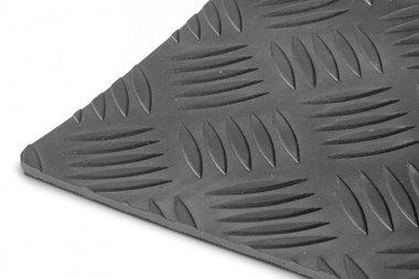 Gummi pro laufendem Meter 1mx1200mmx3mm schwarze Riffelplatte