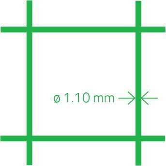 Volierennetz PVC 13x1.1 50 cm x 10 m