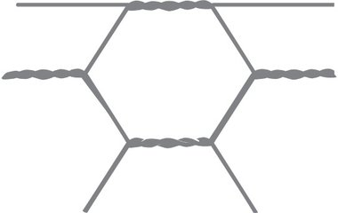 Sechseckiges Netz Avigal 40x0,9 75 cm x 50 m