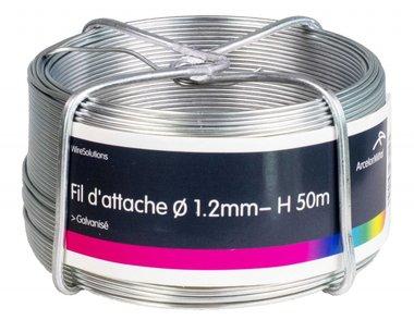 Spurstange verzinkt 1,2 mm 100 mtr-Ring