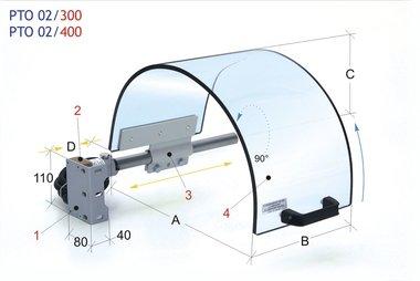 Spannschutz mit monolithischem Siebdurchmesser 400mm