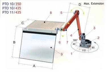 Schutzkappe Meißelhalter 400x350mm